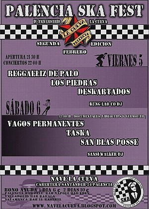 Palencia Ska Fest: Vagos Permanentes + Taska + San Blas Pose + Sansi Walker Dj