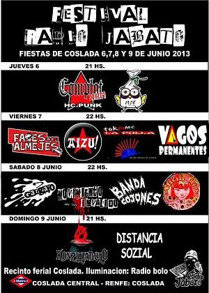 Festival Radio Jabato Fiestas Coslada 2013
