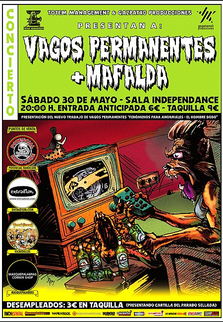 Vagos Permanentes + Mafalda (Presentacion primer vol. Fenomenos para anormales)