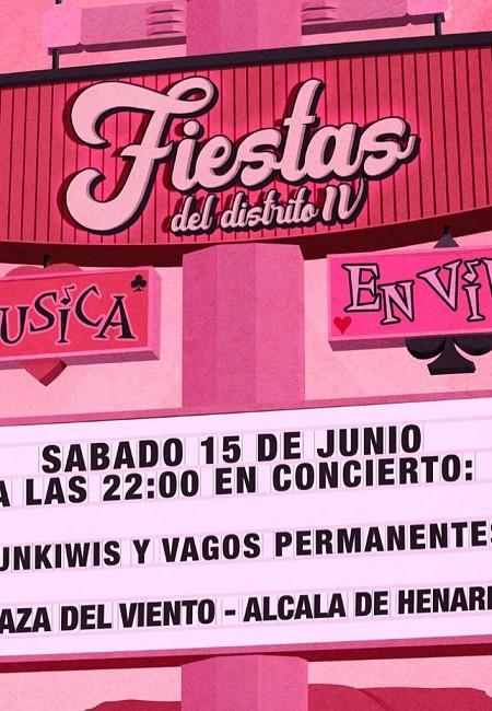 Fiestas del Distrito IV: Funkiwis + Vagos Permanentes