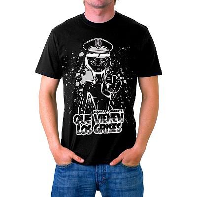 Camiseta Que Vienen Los Grises Negra